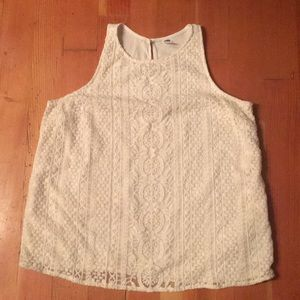 LG Old Navy High Neck Lace Front Tank